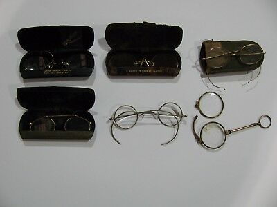 Early Lorgnettes, Pinz-Nez & Spectacles x 6 .