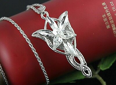 HOT Wholesale Lady LOTR Charm Wizard Silver Crystal Pendant Necklace