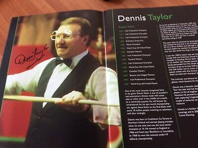 SNOOKER LEGENDS TOUR PROGRAMME prob 2011. AUTOGRAPHED BY 7 leading PLAYERS