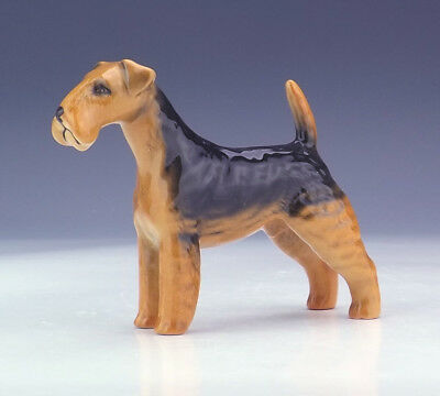 Beswick Pottery - Hand Painted Airedale Dog Figure - Nice!