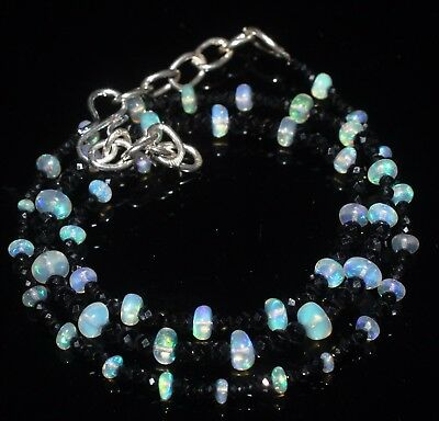 31 Ctw 1Necklace 3to5 mm genuine ethiopian opal beads with spinal beads  R6233