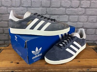 new product f7a82 352de Adidas Mens Uk 8 Eu 42 Blue Vintage White Nemesis Gazelle Og Trainers Rrp  £80