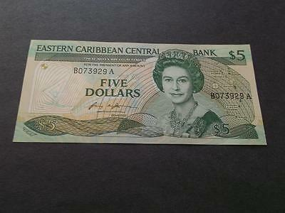 EAST CARIBBEAN STATE 5 DOLLARS 1986-88 #P18a CU CONDITION   A1489