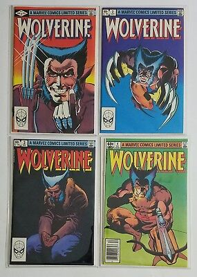 Wolverine #1-4 Copper Age Comic Limited Series Complete Run Lot, High Grade