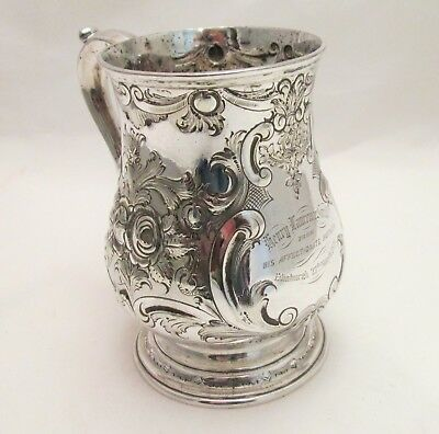 A Good Embossed Silver Plated Tankard - Edinburgh 1871