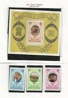 Turks And Caicos Scott 486-8 And 489 Mnh