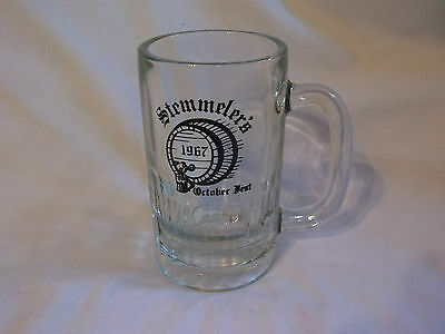 Stemmeler's October Fest 1967 Glass Beer Mug Stein