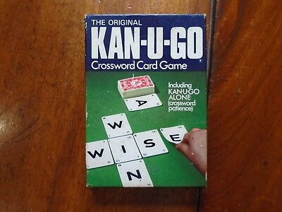 Vintage Kan-U-Go Crossword Card Game By Jarvis Porter In Excellent Condition