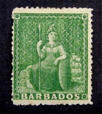 nystamps British Barbados Stamp # 15 Mint with Gum H $24