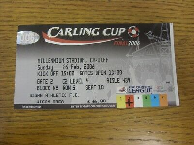 26/02/2006 Ticket: Football League Cup Final, Manchester United v Wigan Athletic