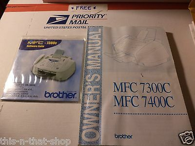 Brother Mfc-7300C Software Disk And Owners Manual Insturction Guide Book Fax