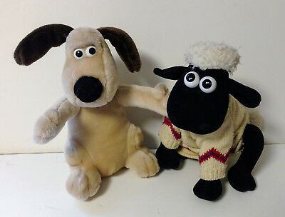 VINTAGE 1989 WALLACE & GROMIT Shaun Sheep plush doll 10""