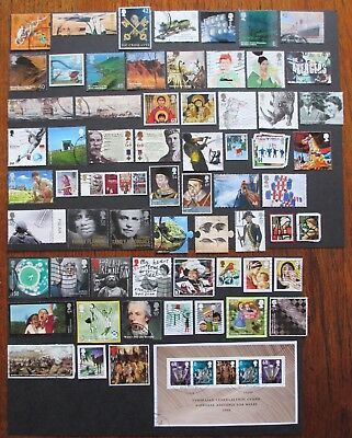 GB Selection 68 used HIGHER Value Commemoratives+ 2003-2016  stamps on/off paper