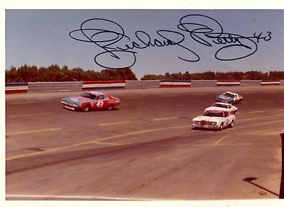 Richard Petty Autograph Orig 1970s 5x3.5 Photo NASCAR Modified 4543