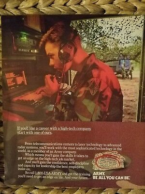1990 Army be all you can be telecommunications military Soldier ad
