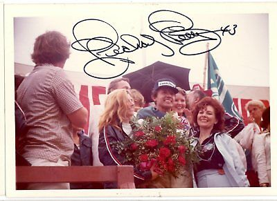 Richard Petty Autograph Orig 1970s 5x3.5 Photo NASCAR Modified 4546