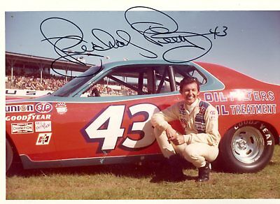 Richard Petty Autograph Orig 1970s 5x3.5 Photo NASCAR 4556