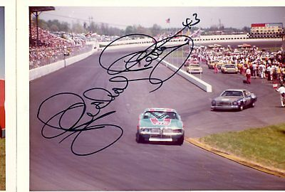 Richard Petty Autograph Orig 1970s 5x3.5 Photo NASCAR 4558