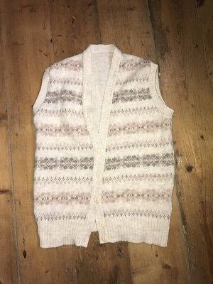 Vintage Knitted Patterned Fair Isle Waistcoat