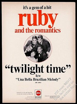 1967 Ruby and the Romantics photo Twilight Time record release trade print ad