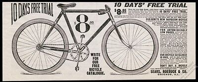 1903 Sears Roebuck Burdick bicycle bike illustrated  vintage print ad