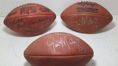 Lot of 3 Autographed NFL Footballs-Unknown Signatures #7 #21