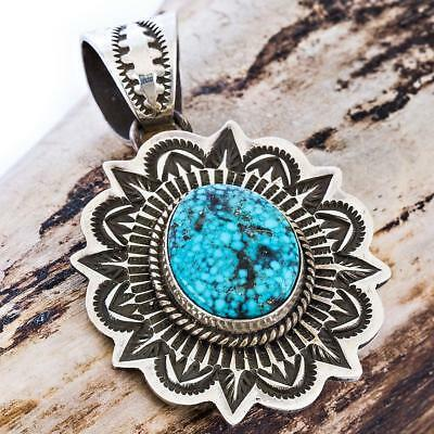 Donovan Cadman Turquoise  Squash Blossom Necklace Pendant Sterling Silver .2