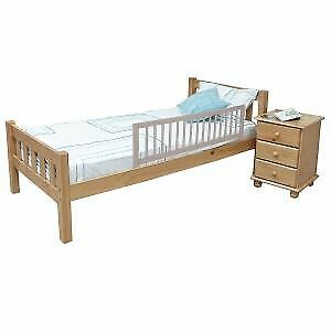 Safetots Wooden Bedrail Bed Guard Bed Rail Safety Bedguard Children Grey RETURN