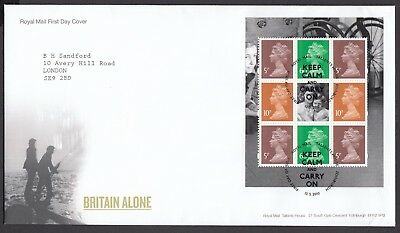 2010  Britain Alone  Booklet Pane  - Cancel As Scan    Fdc   (4320)