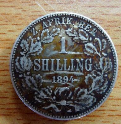 South Africa 1894 shilling silver coin