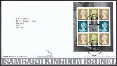 2006  Isambard Kingdom Brunel Booklet Pane  - Cancel As Scan    Fdc   (4332)