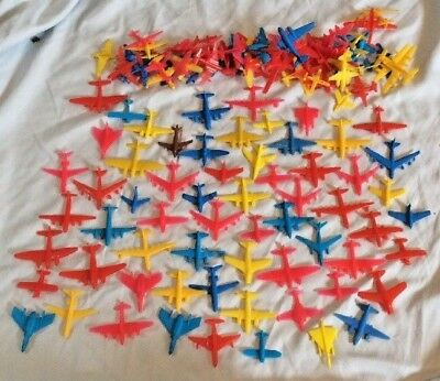 Vintage Small Plastic Toy Airplane Aircraft Aviation Planes  Mixed Lot of 130