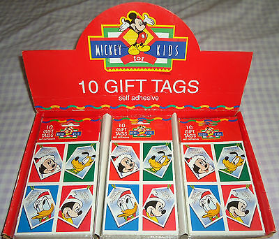 DISNEY MICKEY for KIDS CHRISTMAS SELF ADHESIVE GIFT TAGS ASSORTED PACK OF 10