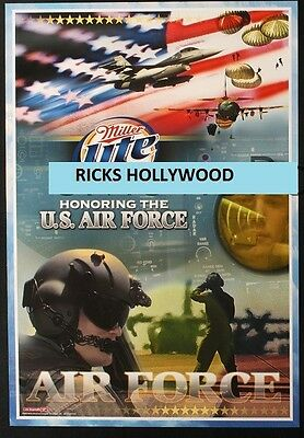 Original 2003 AIR FORCE MILLER LITE BEER Promo Poster FREE SHIPPING to MAN CAVE
