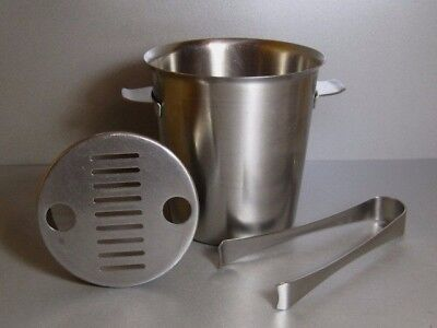 Old Hall 'ALVESTON' Small ICE BUCKET & ICE TONGS Set Robert Welch Stainless