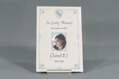 Scream Queens Chanel #2 Ariana Grande Screen Used Eulogy & Funeral Pamphlet 106