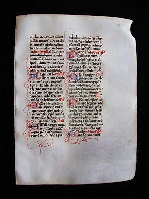 "1280 AMAZING Medieval Vellum, rare ""Original Leaf"" from a Book of Hours...G23"
