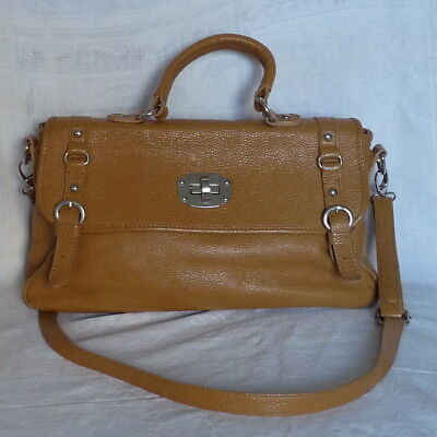 official photos c29f3 13475 Sac-A-Mains-Cuir-Graine-Guenuine-Leather-Gold.jpg