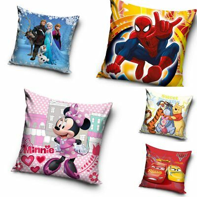 Kids Cushion Cover Pillowcase Spiderman Frozen Minnie Mouse Cars Winnie the Pooh