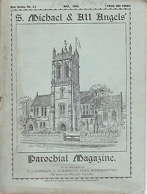 Bournemouth 1894 St Michael & All Angels Parochial Magazine - Local Adverts