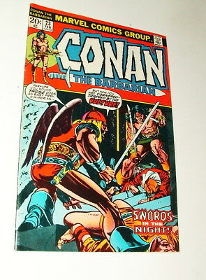 %  1973 Marvel Conan The Barbarian 1St Apperance Red Sonja Comic Book #23 Lot Y3