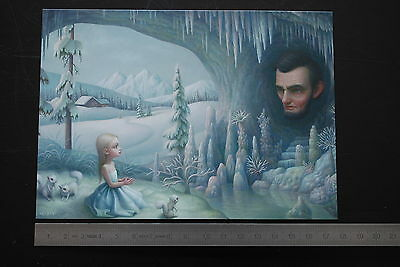 Mark RYDEN Grotto of the old mass Offset original The Snow Yak Show postcard