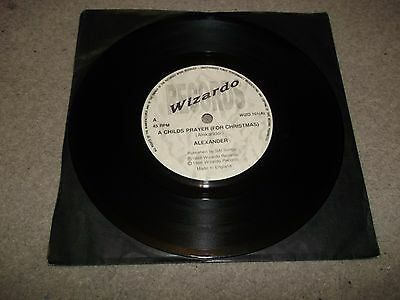 "ALEXANDER a childs prayer for christmas 7"" VINYL RECORD WIZO 101"