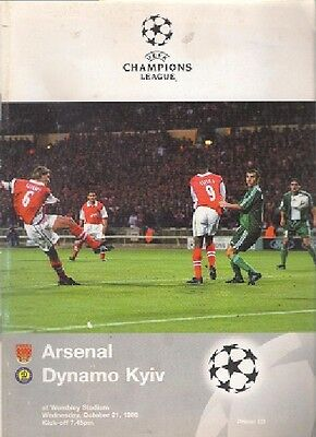 ARSENAL v DYNAMO KYIV 1998-99 CHAMPIONS LEAGUE - AT WEMBLEY