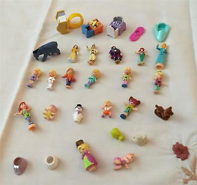 Lot of Vintage Polly Pocket Dolls / Accessories - some Disney Figures