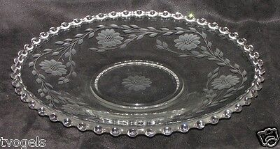 Imperial Depression Glass Candlewick Hughes Cornflower Serving Platter Plate