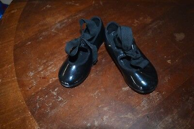 Black patent leather ABT Spotlights  tap shoes toddler girl sz 7