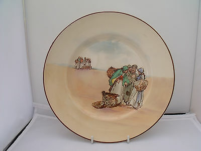 ROYAL DOULTON SERIES WARE PLATE RARE 'BRITTANY FISHERFOLK' c. 1924 - 1940