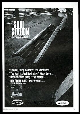 1968 Mary Wells photo Servin Up Some Soul record release trade print ad