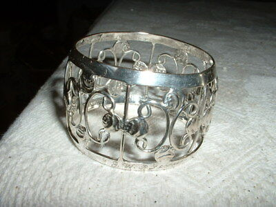 Lovely Art Nouveau Style Silver Plated Napkin Ring
